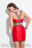 Rachel Allan 4076 Red size 6 homecoming cocktail dress prom