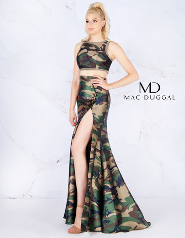 Mac Duggal 40814 camouflage two piece Size 12