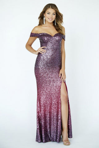 Jolene Collection 19028 Fuchsia Ombre Sizes 00-18