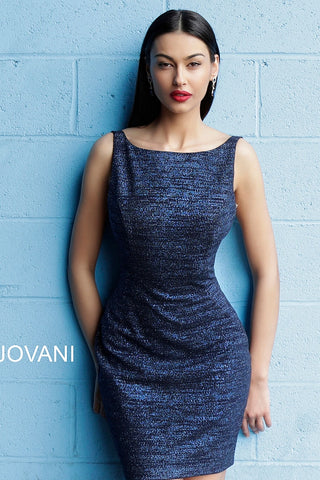 b712ee6981 Jovani 42863 Fitted Glitter Backless Cocktail Dress ...