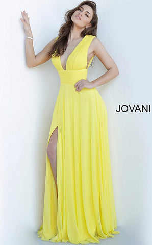 Jovani 2585 high waistline chiffon maxi dress prom dress pageant gown