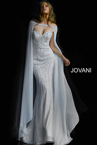88e02d9e56 Jovani 45566 off the Shoulder Beaded Sweetheart neckline evening gown –  GlassSlipperFormals