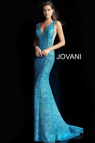 Jovani 45811 plunging neckline jersey prom dress