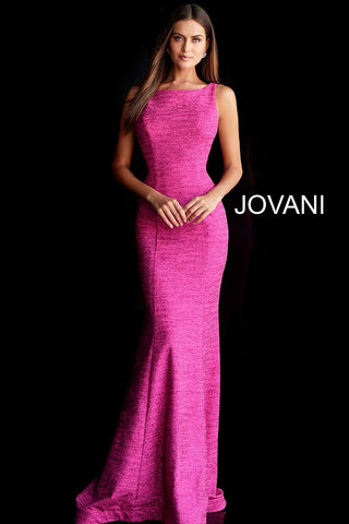 Jovani 45830  prom dress with high neckline features sheer cut-outs