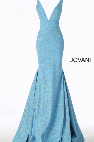 Jovani 47075 Iridescent Shimmer Fitted Mermaid Prom Dress 2020 Train Pageant Gown
