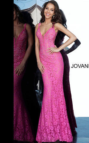 Jovani 48994 embellished stretch lace prom dress Pageant Gown long 2020 Long