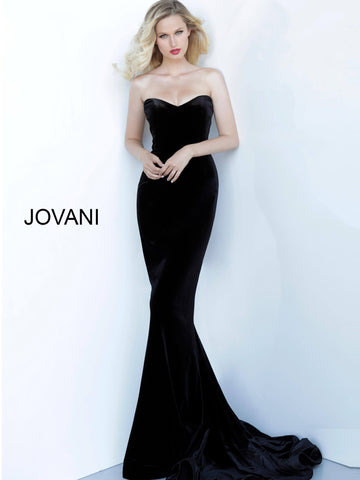 Jovani 63993 velvet mermaid evening gown