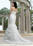 DaVinci Bridal Gown 50063 size 12 White Wedding Dress Detachable