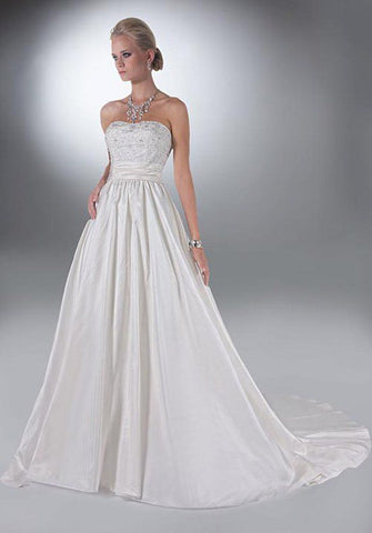 Davinci Bridal 50108 size 6 Ivory with detachable over skirt
