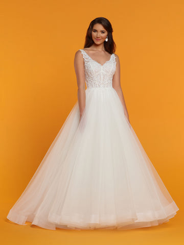 Davinci Bridal 50514 is a Tulle & Lace Ballgown wedding dress with a V neckline and open v back. Embellished lace bodice  Available for 1-2 Week Delivery!!!  Available Sizes: 2,4,6,8,10,12,14,16,18,20  Available Colors: Ivory