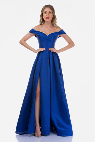 Nina Canacci 5152 Long Maxi Off the Shoulder High Slit Prom Dress Formal Gown
