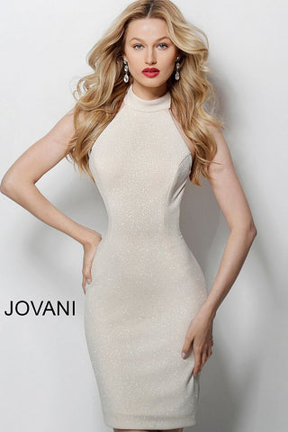 Jovani 55191 Glitter Fitted Cocktail Dress