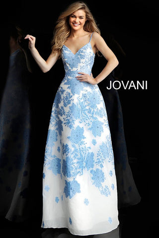 Jovani 57101 embellished floral prom dress