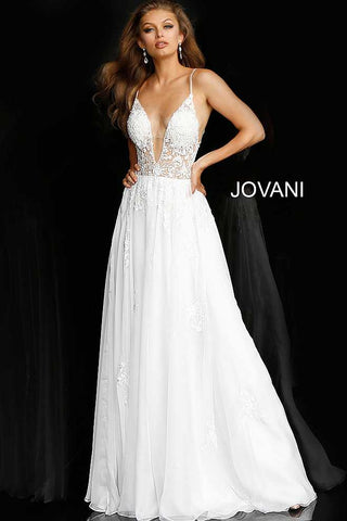 Jovani 58632 floral embellished prom dress