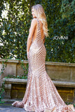 Jovani 59762 Sequin Embellished Mermaid prom dress Pageant Gown plunging neckline