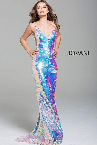 Jovani 59838 Paillette fitted iridescent prom dress Gown 2020 sequin