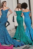 Jovani 60122 Long Fitted Gown Iridescent Shimmer Mermaid Prom Dress 2020