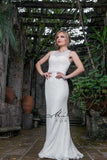 Milano Formals E1822 long lace dress in Ivory Sizes 8, 12 Bridal Gown Wedding Dress