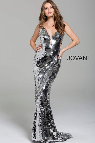 1c40c295a9 Jovani 62024 plunging neckline paillette sparkly prom dress –  GlassSlipperFormals