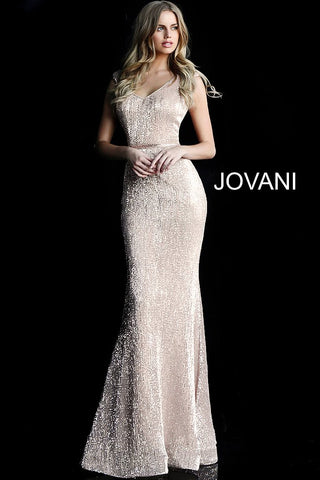 JVN62499  Cap sleeve fitted bodice v neck and back embellished waist belt and floor length fitted skirt with slightly flared end and small train prom dress evening gown pageant dress.