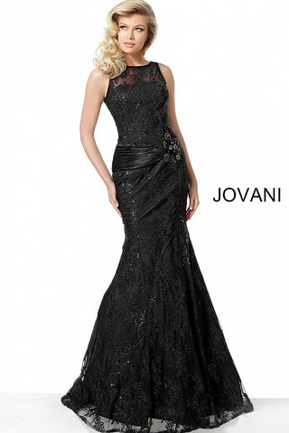 Jovani 62831 Black and Blush Sizes 00-24