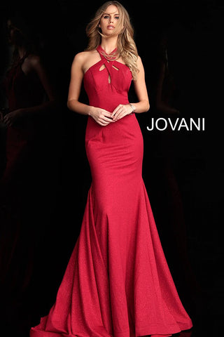 Jovani 62926 high criss cross with cutout neckline prom dress