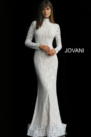 Jovani 63209 Light Blue, Navy/Nude, Off White/ Nude, Red/ Nude Sizes 00-24