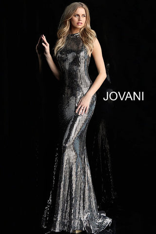 Jovani 63510 Black/Gold and Black/ Silver Sizes 00-24
