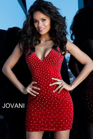 Jovani 63560 black, red, white Sizes 00-24