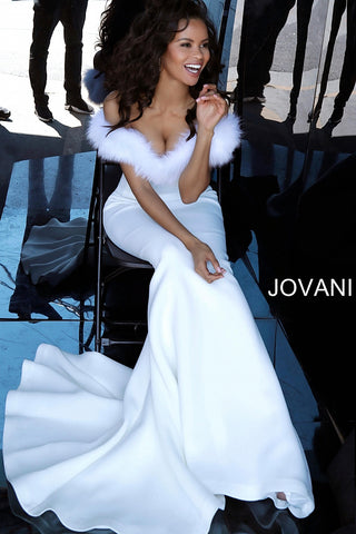 Jovani 63884 black, navy, white Sizes 00-24