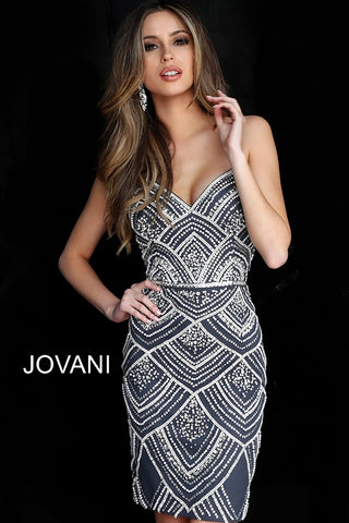 Jovani 64598 Homecoming Dress 2020  Beaded Cocktail Gown