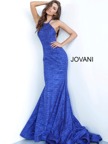 Jovani 65416 high neckline glitter jersey fitted prom dress 2020 Mermaid Gown
