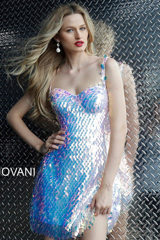 Jovani Blush Iridescent Sweetheart Neckline Homecoming Dress 65971