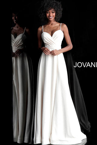 Jovani 66253 sweetheart neckline glitter prom dress