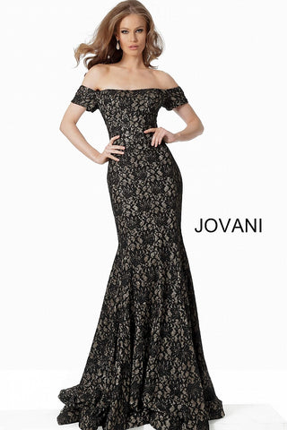 Jovani 66305 Black/Gold and Blush/Gold Sizes 00-24