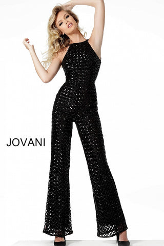 Jovani 66794 Black Jumpsuit Sizes 00-24