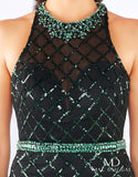Mac Duggal Flash 66835 Emerald Size 8 Prom Dress Pageant Gown