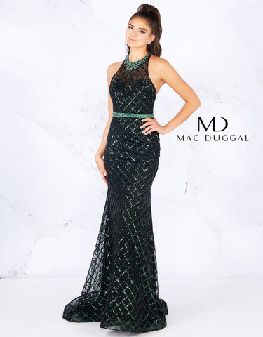 Mac Duggal Flash 66835 Emerald Size 8