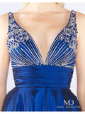 Mac Duggal 66926 Midnight Blue Size 2 Prom Dress Pageant Ball Gown A Line