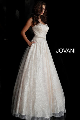 Jovani 66955 sweetheart neckline glitter prom dress ball gown