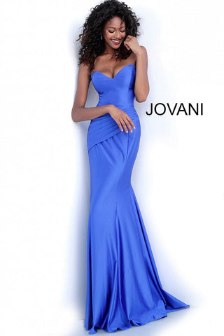 Jovani 67413 pleated waist sweetheart neckline prom dress