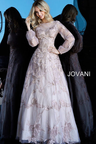 Jovani 67444 Mauve Sizes 00-24