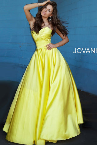 Jovani 67847 Satin Ball Gown Prom Dress Strapless Gown 2020 Sweetheart Neckline