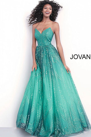 Jovani 68117 Emerald, Fuchsia, Grey and Royal Sizes 00-24