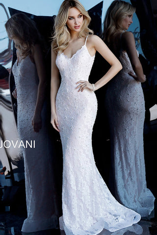 Jovani 68408 white/blush Sizes 00-24