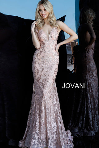 Jovani 68445 Blush, Burgundy, Emerald, Ivory and Navy Sizes 00-24