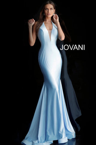 Jovani 68670 Black, Bubble Pink, Emerald, Ivory, Powder Blue, Red and Royal Sizes 00-24