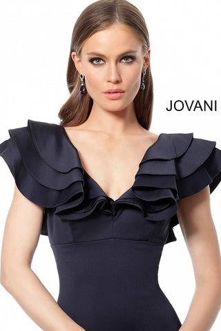 Jovani 68793 Black, Ivory, Navy, Red Sizes 00-24