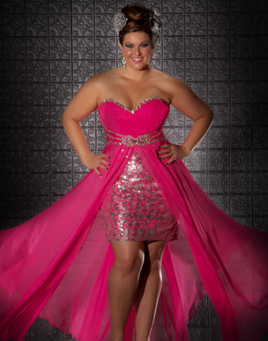 FABULOUSS MAC DUGGAL Size 14 Hot Prom Dress High Low Pageant 76288F