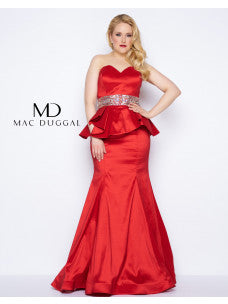 Fabulouss by Mac Duggal 76775 Red size 16 Prom Dress Pageant Gown